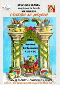"""Spectacle de noël """"colore le monde"""""""